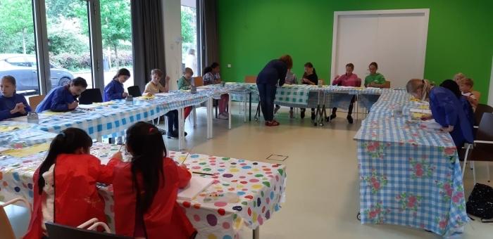 Schilderworkshop in Duivendrecht Stichting Coherente  © BDU media