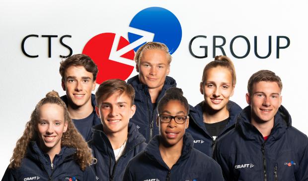 Van links af: Noortje Reijnen, Matthijs van Wijngaarden, Steffan van Weldam, Maira Medema, Yuri Aarnoudse, Cheyenne Stoffer en Ezra Verboom.