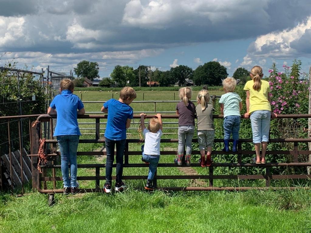 """,,Onze 4 kinderen samen met de 3 kinderen  van vrienden van ons. Heerlijk samen buiten spelen."""" J. van de Berg  © BDU Media"""