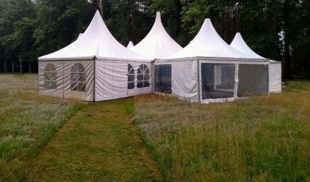 Het overdekte openluchttheater van Eddy Houtveen.