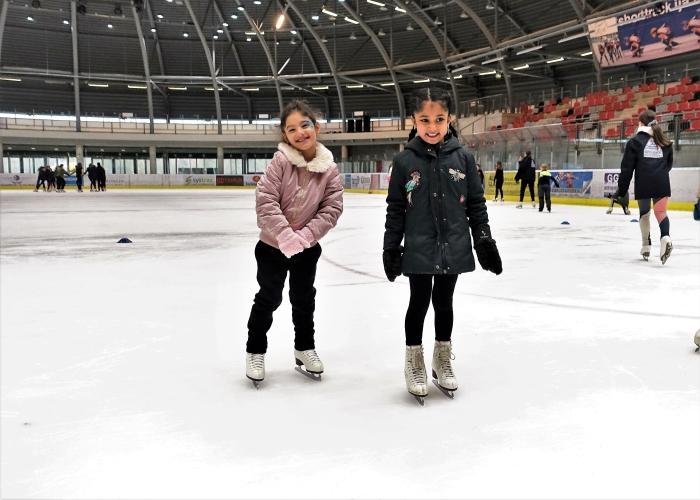 schaatsles op de Dordtse sportboulevard