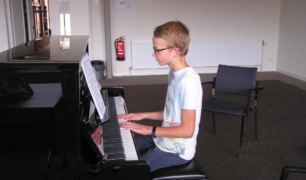 Pianist Daan Steenbeek.