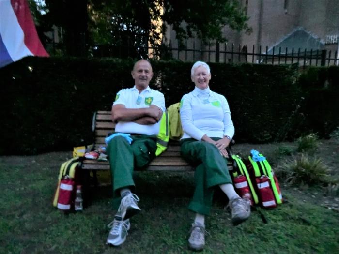 Janine en Peter waren er ook bij namens EHBO Hoogland GH © BDU media