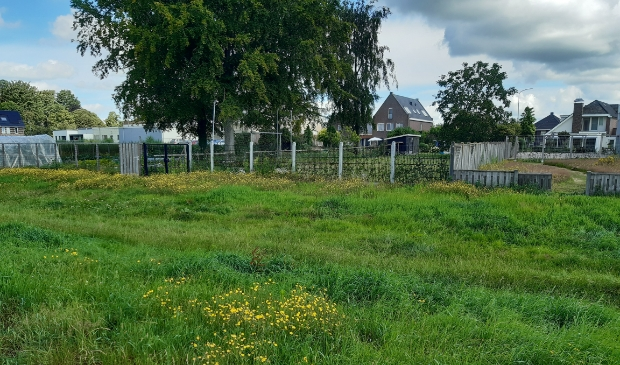 De kavels achter de woningen aan de Hessenweg, waar de grondeigenaren vrijstaande woningen mogen gaan bouwen.