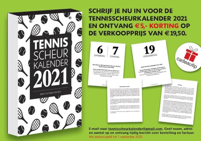afbeelding tenisscheurkalender