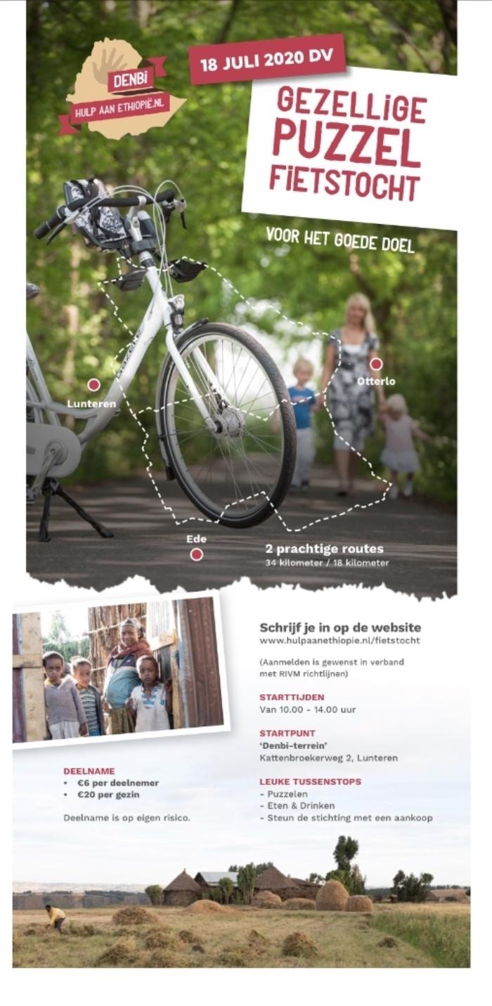 Flyer met info over fietstocht