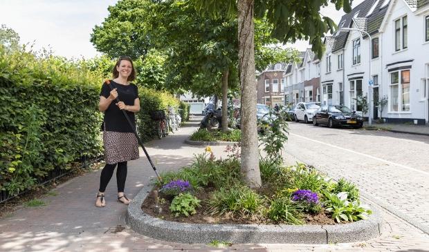 Mischa en haar buren maakten samen het Brouwersplein groener.