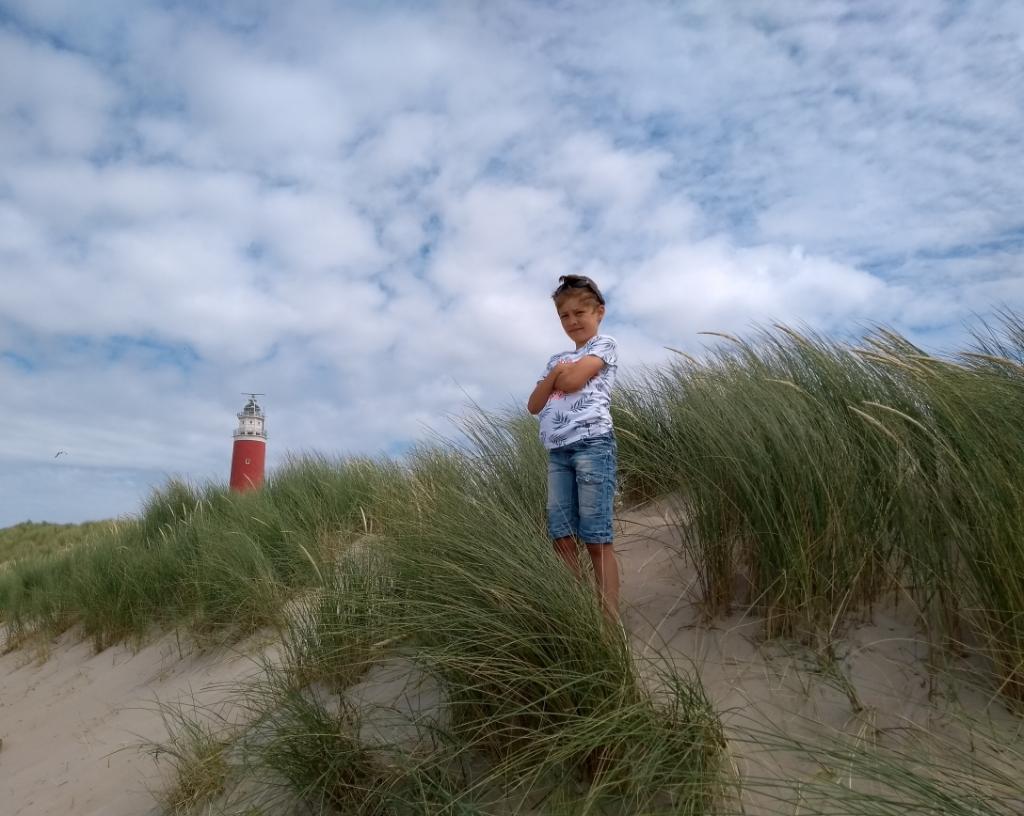 Lucan Klok, in de duinen van Texel op 23 juli 2020. Sandra Klok © BDU Media