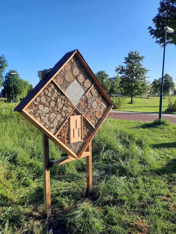 Het bijenhotel toen het net geplaatst was De Krachtfabriek © BDU media
