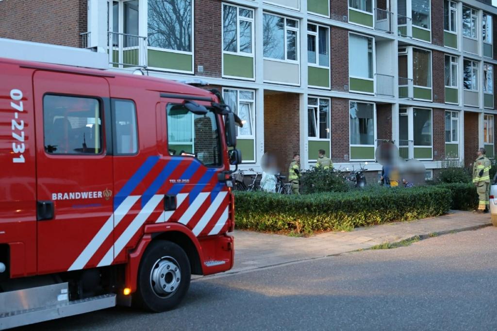 De brandweer vond de oorsprong van het gaslek bij een meter in een van de woningen. Ted Walker © BDU Media
