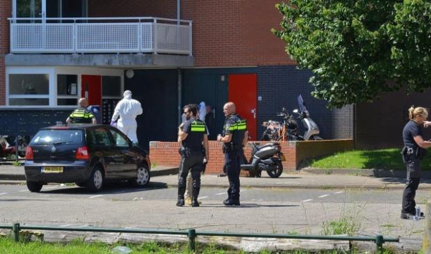 Kort na de schietpartij op de Opaallaan deed de politie onderzoek naar de toedracht.