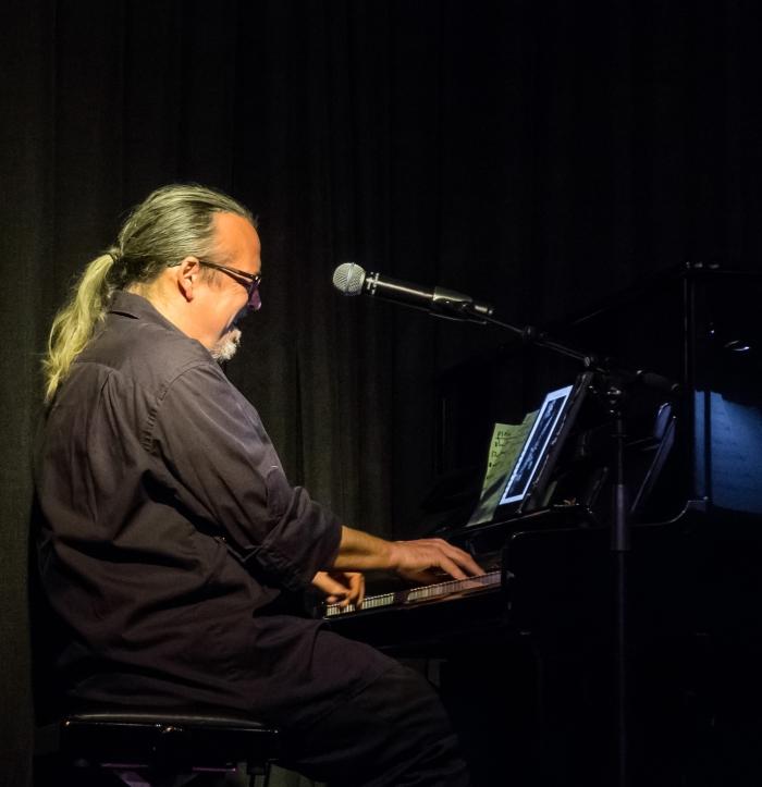 pianist Stormvogel in actie in Artishock