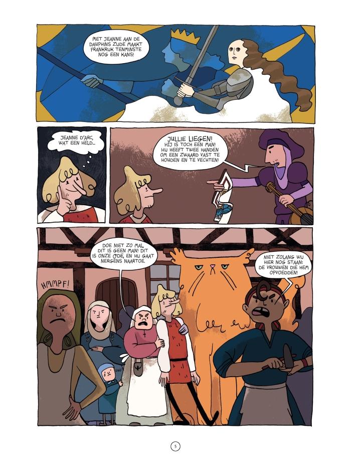 Bladzijde uit het stripboek Op Weg Naar Orléans Gabi Berkers © BDU media