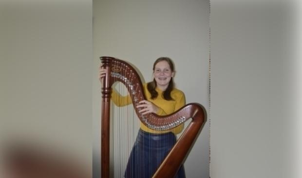 Harpiste Christine van der Sluijs. Familie Van der Sluijs © BDU media