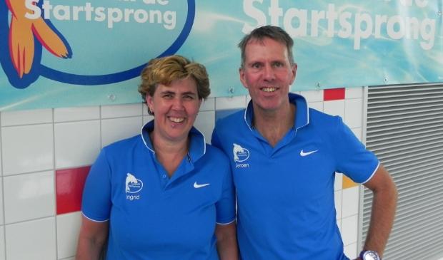Ingrid Vulto en Jeroen Peek gaan er bij De Startsprong een leuke zwemvierdaagse van maken.