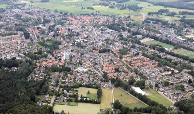Voorthuizen vanuit de lucht. Volgens het Elsevier-onderzoek woon je hier binnen de gemeente Barneveld het fijnst.