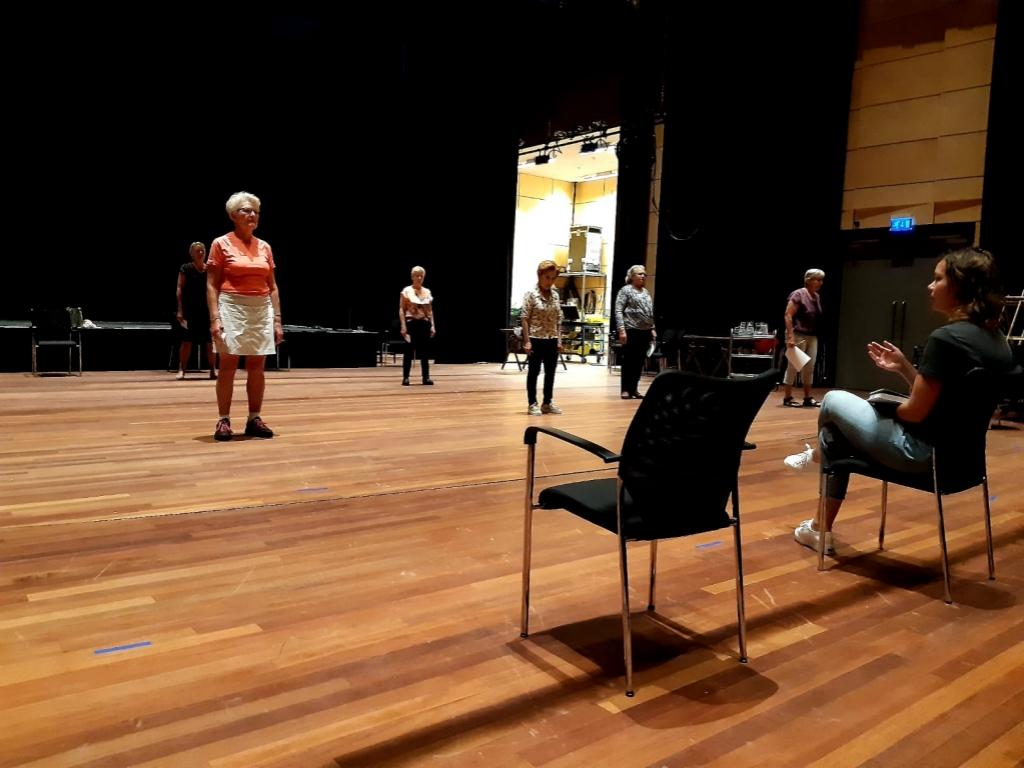 Weer oefenen in het theater Aan de Slinger © BDU media