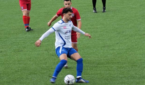 Spelers van het seizoen 2019-2020 Akram Chentouf scoort de 1-0 tegen Hillegersberg.