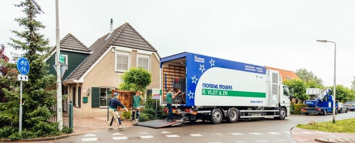 Een unieke waterstofverhuiswagen.