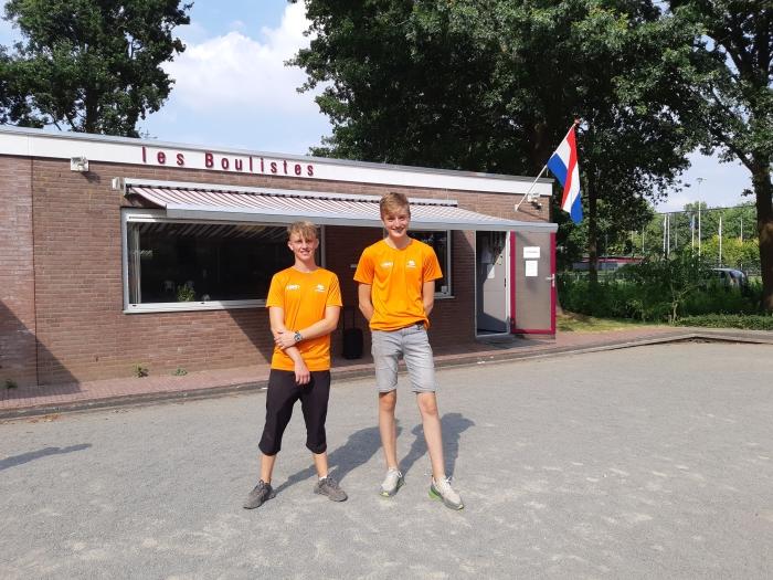 Links Koen Wentink, rechts Luca Kok