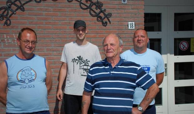 Frans van Zoeren, Vincent van Zoeren, Jaap Kwak en Dirk Magré (vlnr).