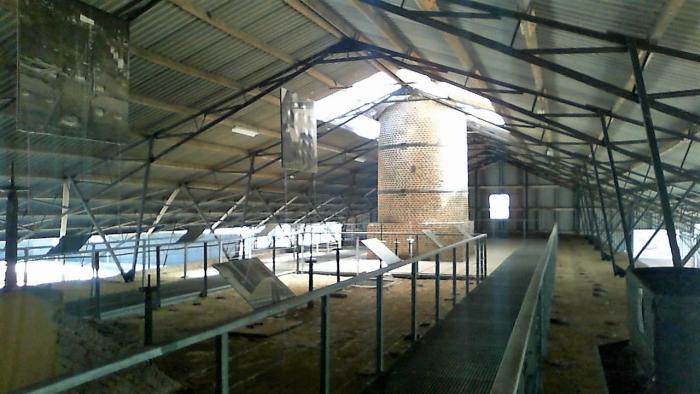 De bovenverdieping van de Steenfabriek