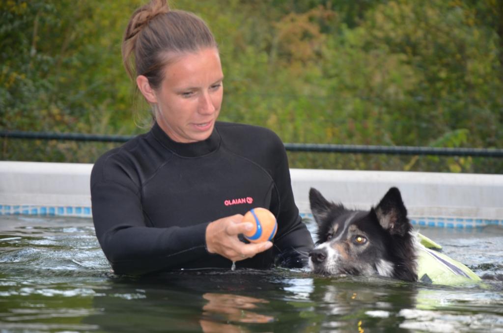 Monica weet de hond al snel gerust te stellen Ali van Vemde © BDU media