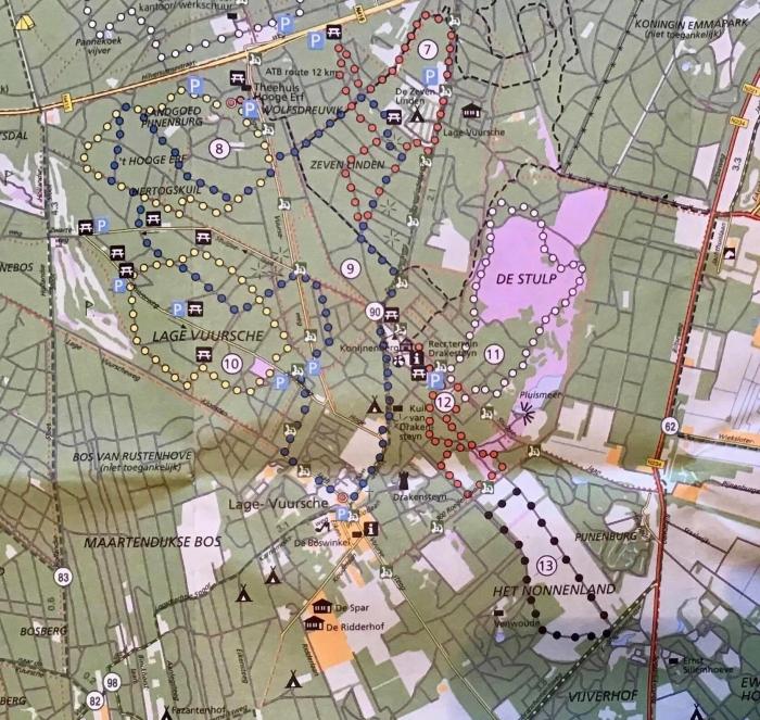 De wandelroutes bij de Lage Vuursche /SBB-Falk Onno Wijchers © BDU media