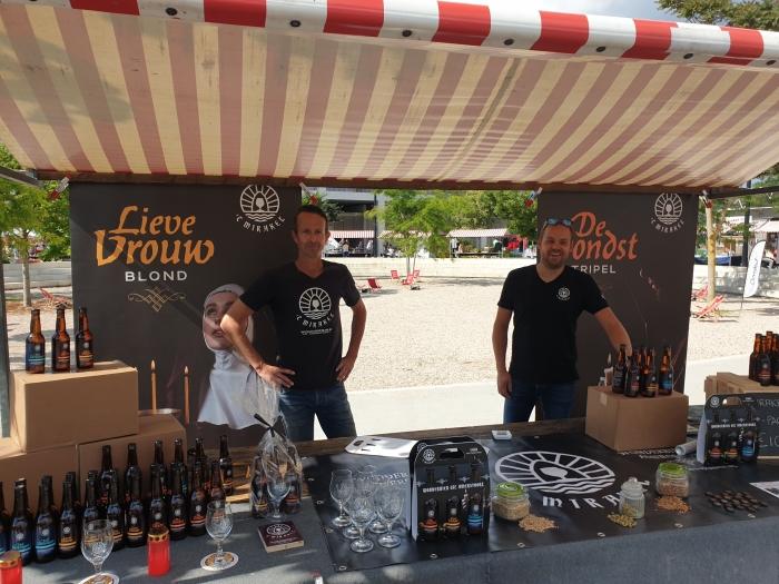 Wilco Henzen en Robert-Jan Wasch van 't Mirakel op de Lente Markt bij Het Lokaal