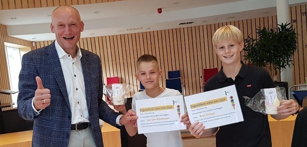 Wethouder Hans Marchal heeft grote waardering voor het werk van Levi en Rens Gemeente Wijk bij Duurstede © BDU media