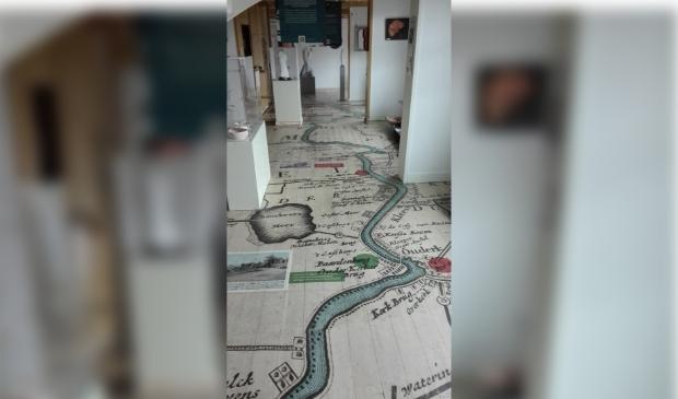 De vloer van Museum Amstelland.