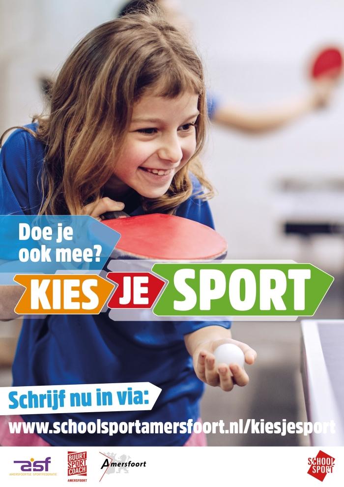 aankondiging Kies je sport Schoolsport Amersfoort © BDU media