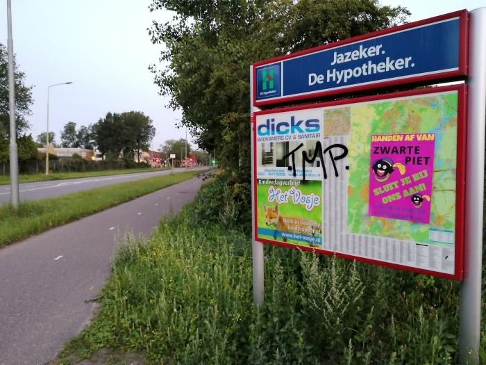 Poster informatiebord Boerhaavelaan  Zwarte Pieten Actiegroep  © BDU media