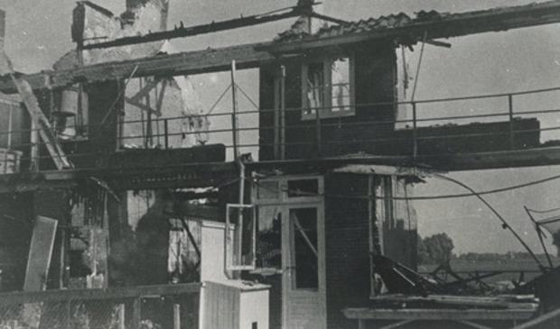 De huizen aan de Henegouwselaan zijn totaal verwoest.