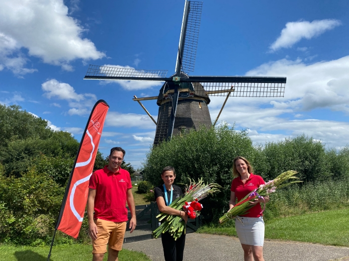 Deelneemster Nierdaagse, Corry van Vliet, haalt ruim 2750 euro op voor de Nierstichting voor de genezing van nierziekten