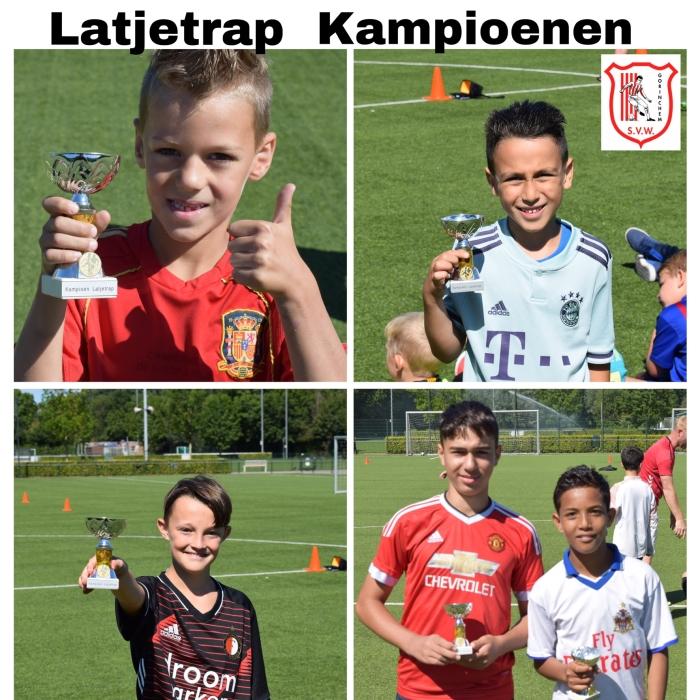 De kampioenen van het latjetrap