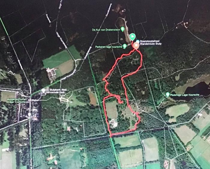De wandelroute via GPS/Garmin Onno Wijchers © BDU media
