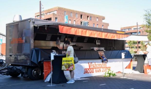 De lege kraam staat zaterdag ook op de weekmarkt in Floriande.