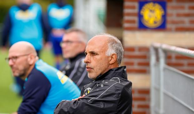 <p>Trainer Pieter van de Grift en Blauw Geel &#39;55 blijven elkaar ook volgend seizoen trouw.</p>