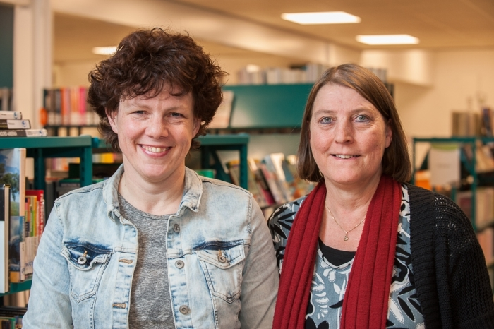 Gastvrouwen Sanne van der Zee en Suzanna Kleijn