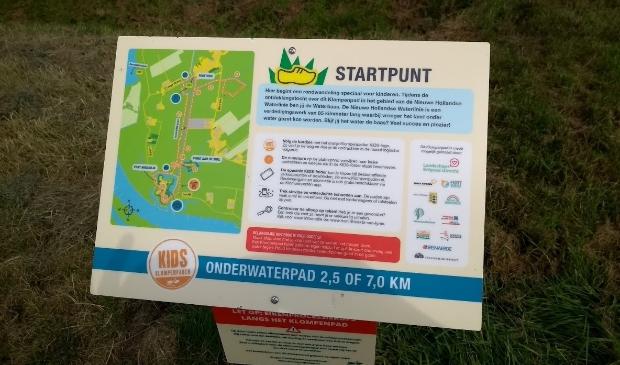 Startpunt Onderwaterpad bij Fort Honswijk