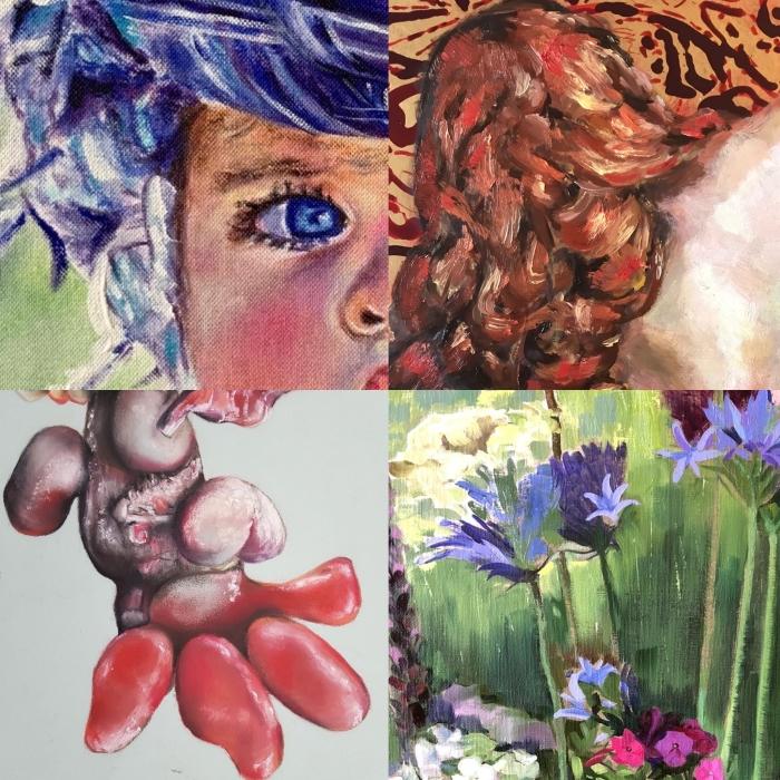 Details van de kunst die te zien is in D'Oude School Marja de Bruijn © BDU media