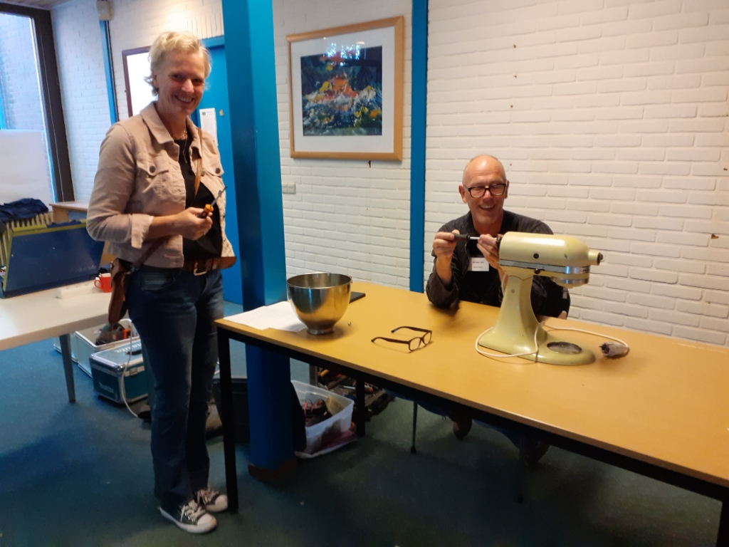 Het eerste repaircafé was een succes Repair Café © BDU media
