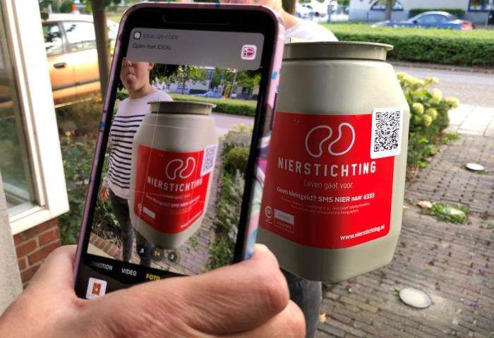 De Nierstichting gebruikt QR-codes voor coronaproof collecteren