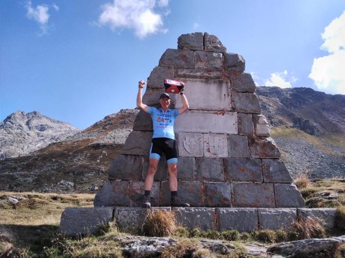 Paul op de Splügenpas (2100m)