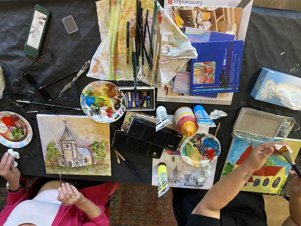 De schilder workshop van Rijk Roor werd goed bezocht Yvon Hoogendijk © BDU media