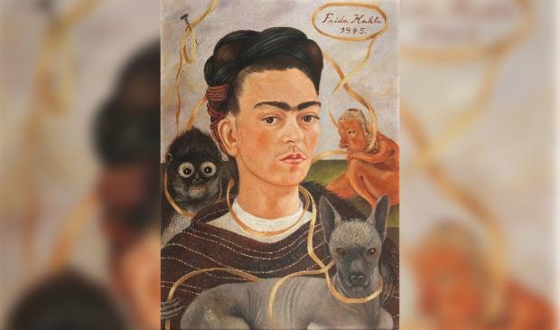 <p>Het bekende &#39;Zelfportret met aapje&#39; van Frida Kahlo.</p>