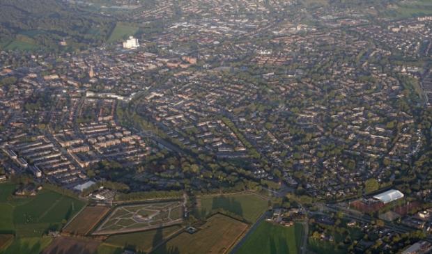 <p>Overzichtsfoto van een groot deel van Barneveld.</p>