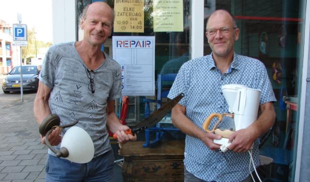 links Lodewijk Bergsma en rechts Kees Dikker