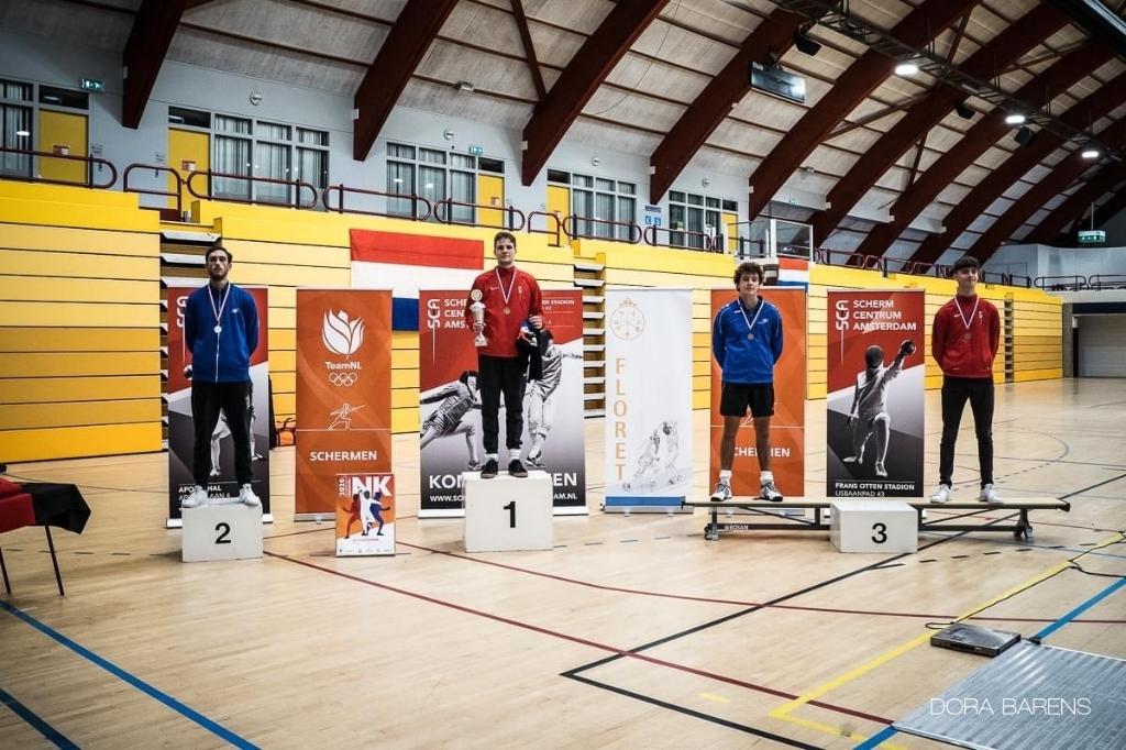 De winnaars op het erepodium. Dora Barens © BDU media